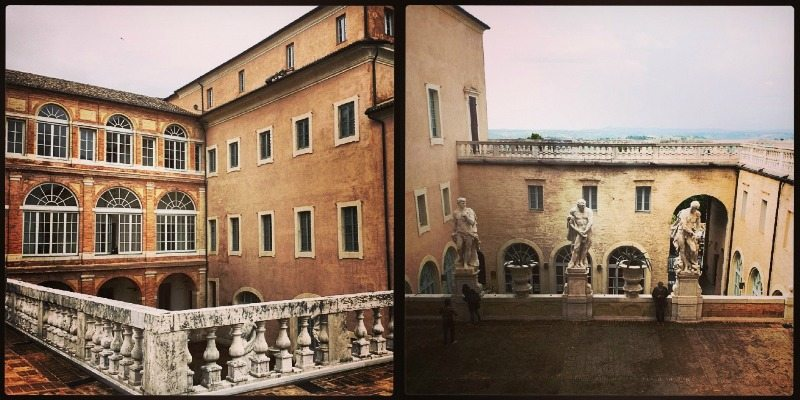 Il terrazzo di Palazzo Bonaccorsi, Macerata. Foto di Paolo1225 su Instagram