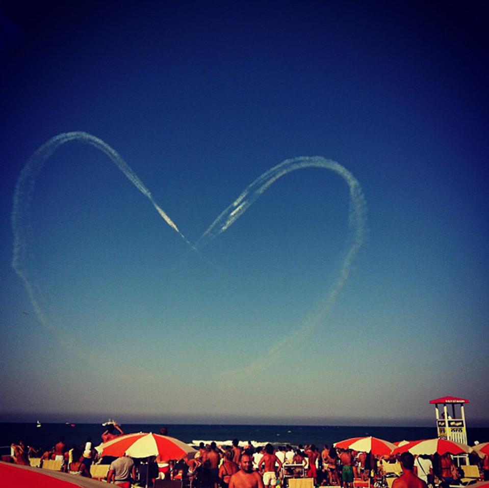 Un cuore in cielo a Senigallia (AN). Foto di © Chiara_Pacetti