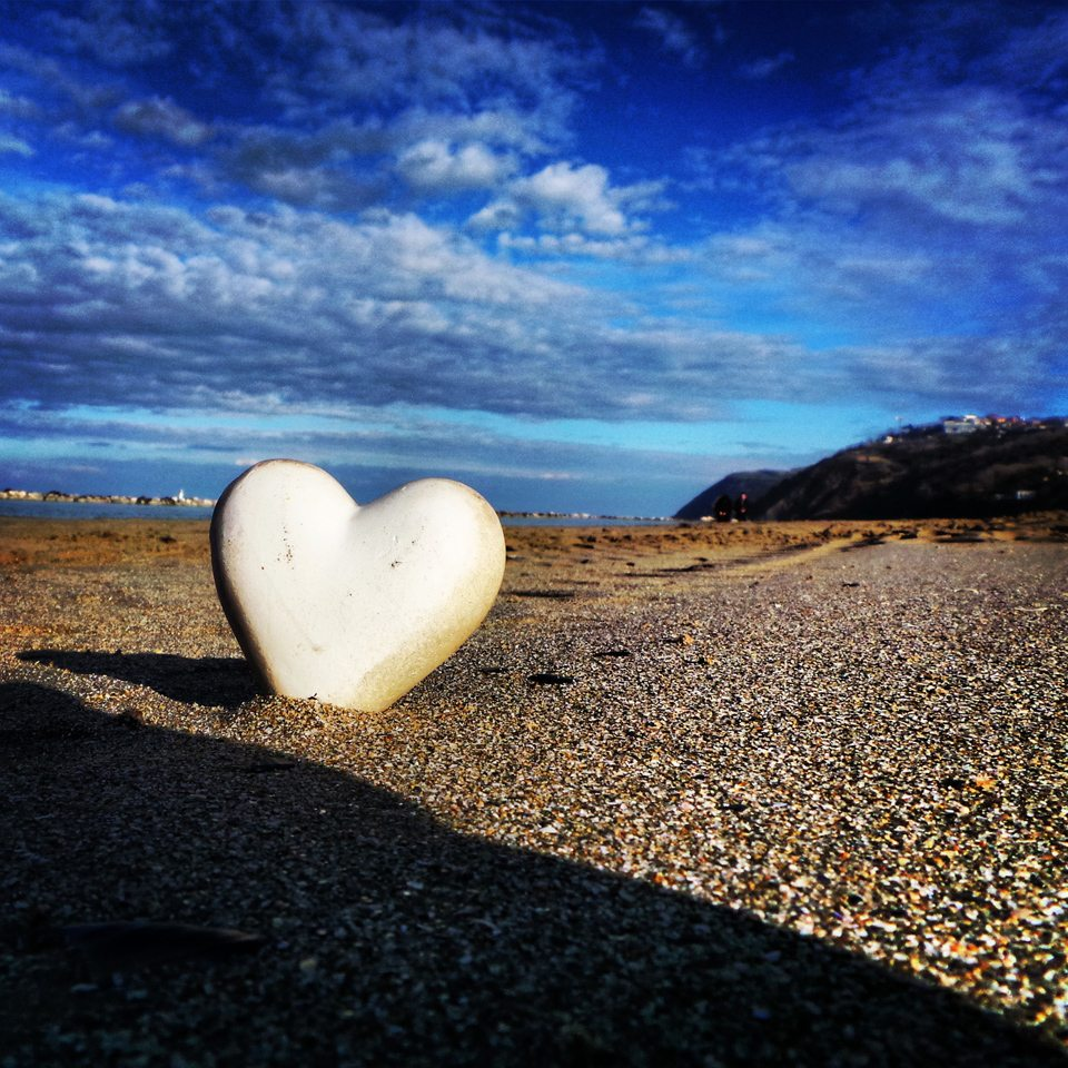 Un cuore a Gabicce Mare (PU). Foto di © Giugiusbambi