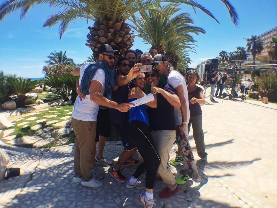 """Un selfie con la troupe e gli attori dello spot """"Le Marche non ti abbandonano mai"""""""