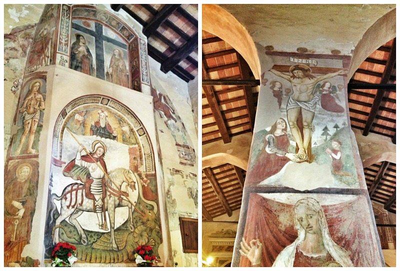 Affreschi nella Chiesa di San Giorgio all'Isola a Montemonaco