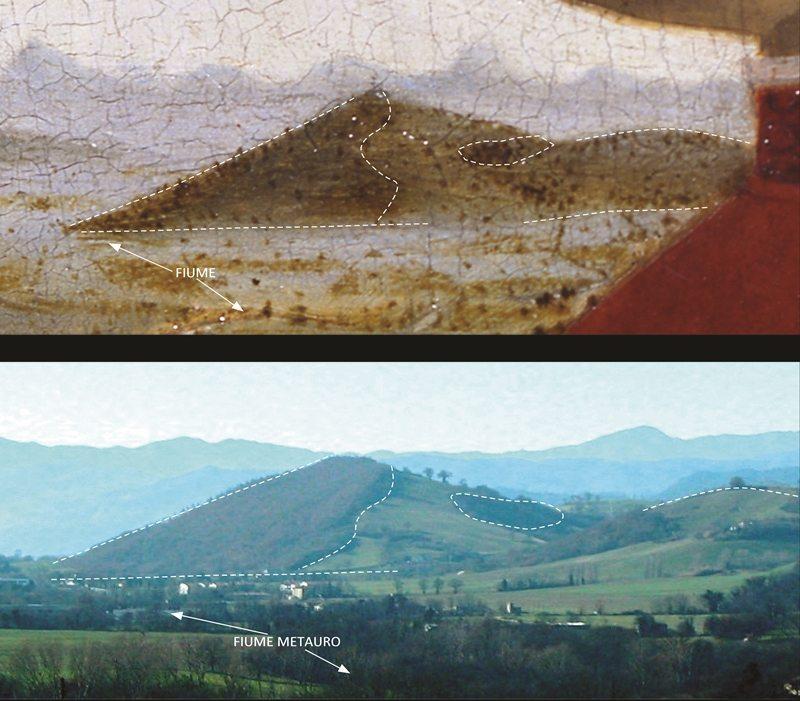 Il particolare del Monte Fronzoso © Montefeltro Vedute Rinascimentali