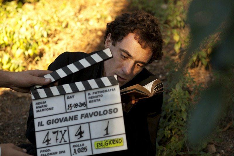 "Elio Germano intrepreta ""Il giovane favoloso"" regia Mario Martone Produzione Palomar"