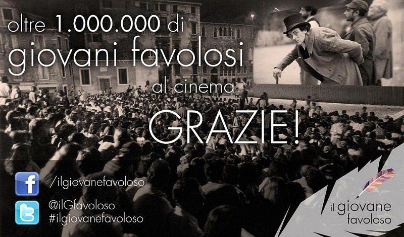 """Il giovane favoloso record di incassi in Italia © Pagina FB """"Il giovane favoloso"""""""