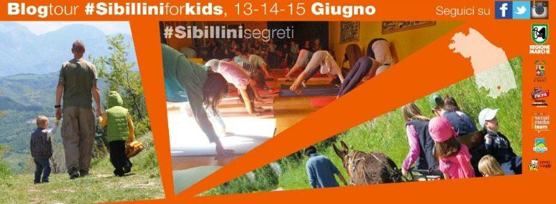 Locandina Blogtour #SibilliniforKids