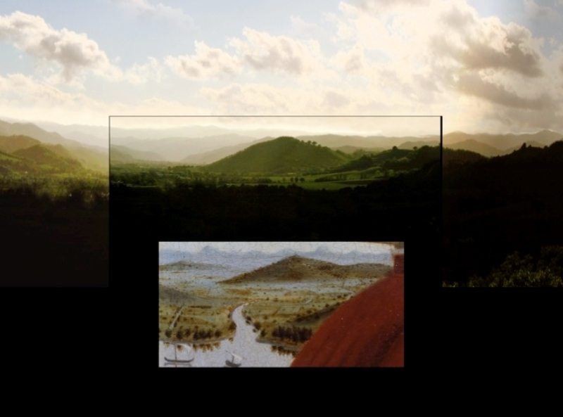 Il lago ieri e oggi. © Montefeltro Vedute Rinascimentali