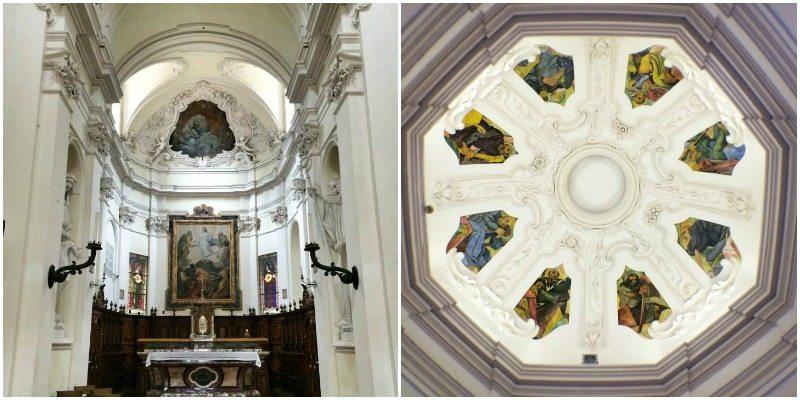 L'interno della Chiesa dell'Eremo di Monte Giove, Fano.