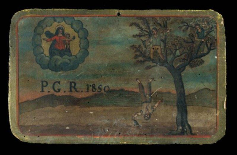 Caduta da un albero, olio su tavola, 1850. Museo Antico Tesoro della Santa Casa di Loreto