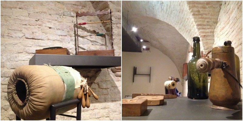 Museo delle Arti Monastiche di Serra de' Conti, particolari di alcuni oggetti.