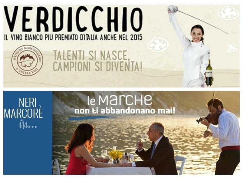 Elisa di Francisca, ambasciatrice del Verdicchio nel mondo e Neri Marcorè, testimonial delle Marche