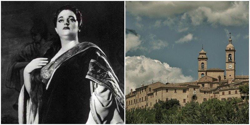 Anita Cerquetti e il suo paese di origine, Montecosaro (MC)