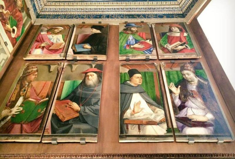 Alcune tavole degli Uomini Illustri che ispirarono Federico da Montefeltro