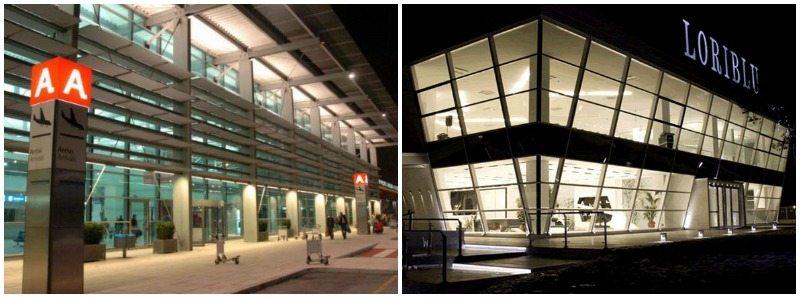 L'aeroporto delle Marche a falconara Marittima (AN) e Diamond Palace Loriblu a sant'Elpidio a Mare (FM)