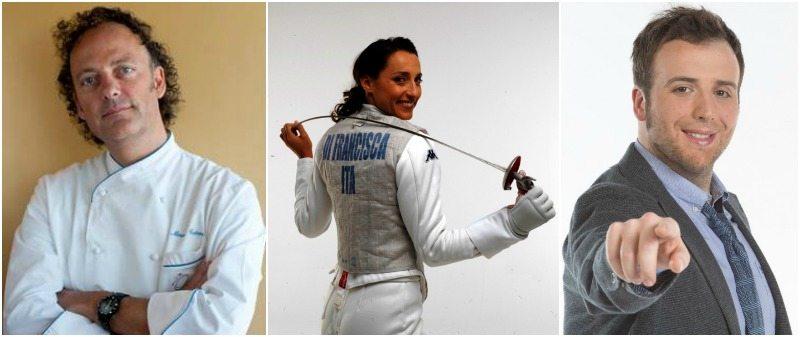 Ambasciatori dell'Expo nel mondo: Moreno Cedroni, Elisa Di Francisca e Raphael Gualazzi