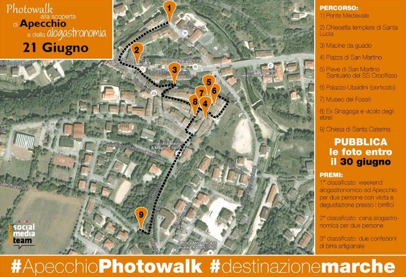 Il percorso di #apecchiophotowalk