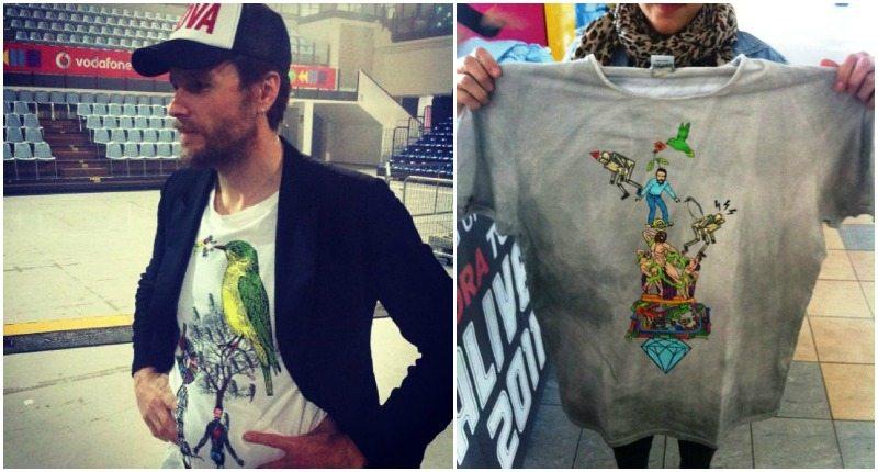 Le t-shirt create da Giacomo Giovannetti per Jovanotti