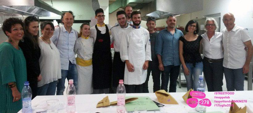 Alessandro Antonelli con la giuria presieduta da Mauro Uliassi e Moreno Cedroni ©Mappelab