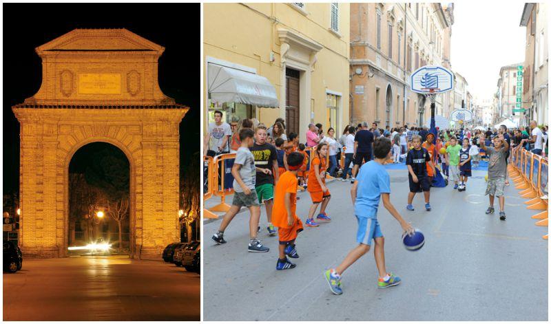 Corso Matteotti e Arco Clementino - Foto Ubaldi