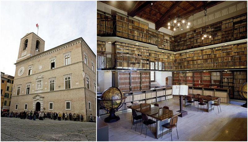 Palazzo della Signoria - Foto Lancioni e Biblioteca Planettiana - Foto Ubaldi