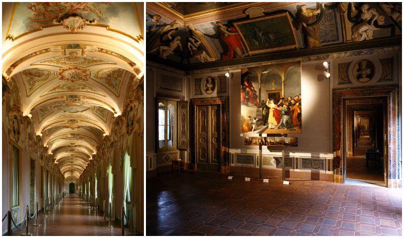 Galleria degli Stucchi e La Pala si Santa Lucia di Lorenzo Lotto - Foto Ubaldi