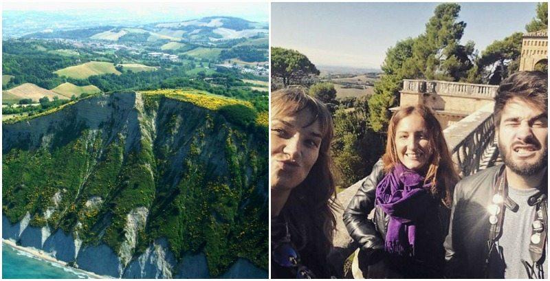 Gruppo Parco San Bartolo: Francesca Barbieri, Giulio Tolli e Ruth Mezzolani