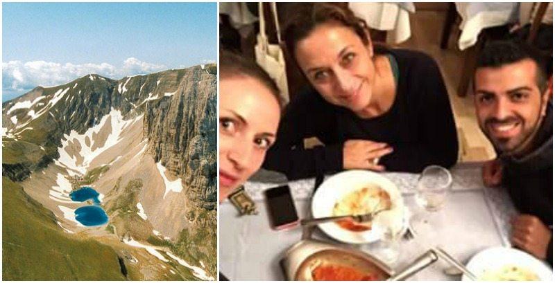 Gruppo Monti Sibillini: Emma Barreca, Manuel Santoro e Cecilia Gobbi