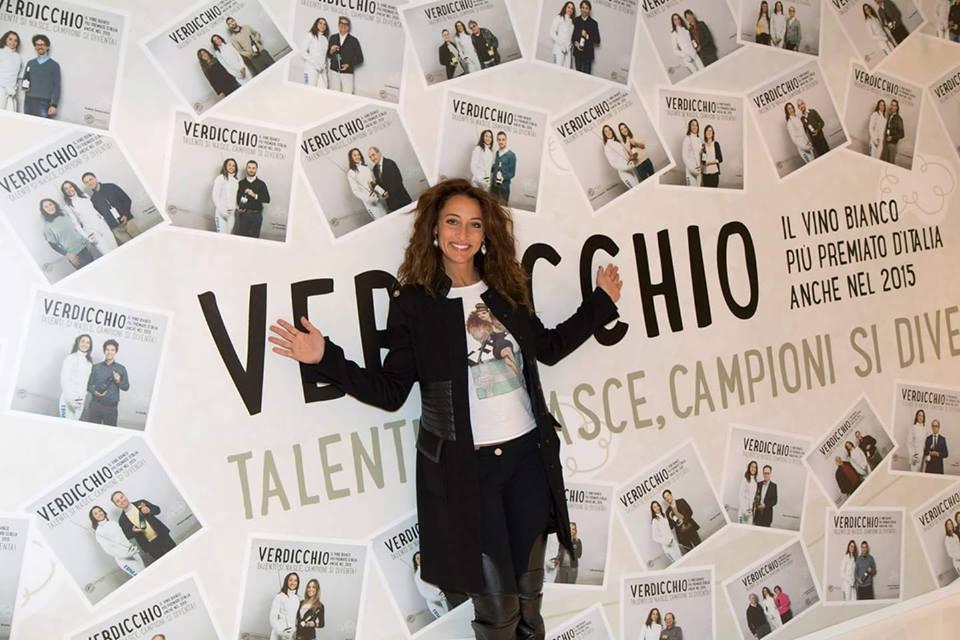 Elisa Di Francisca a Vinitaly 2015 come ambasciatrice del verdicchio