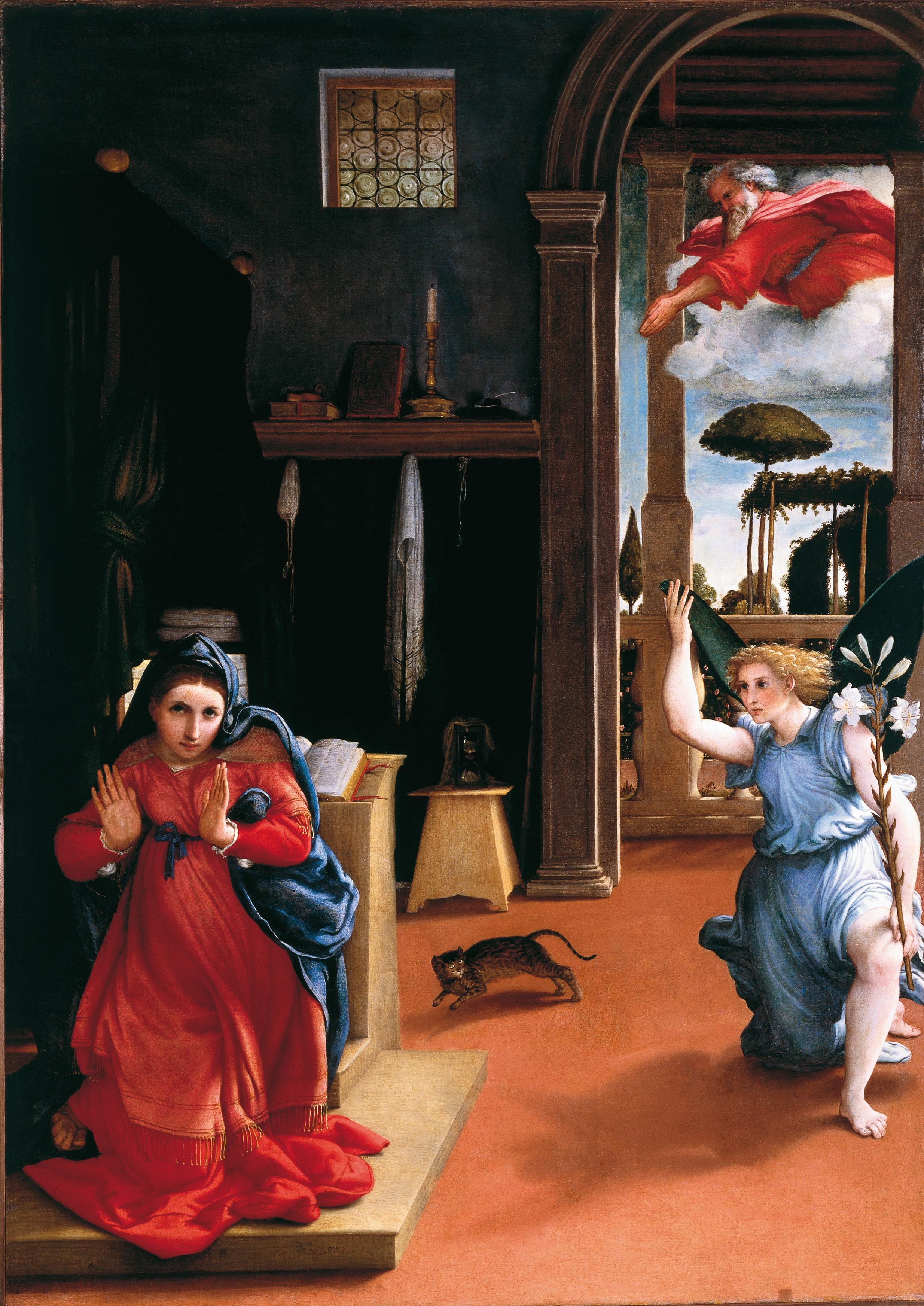 L'annunciazione di Lorenzo Lotto nel Museo di Villa Coloredo Mells a Recanati