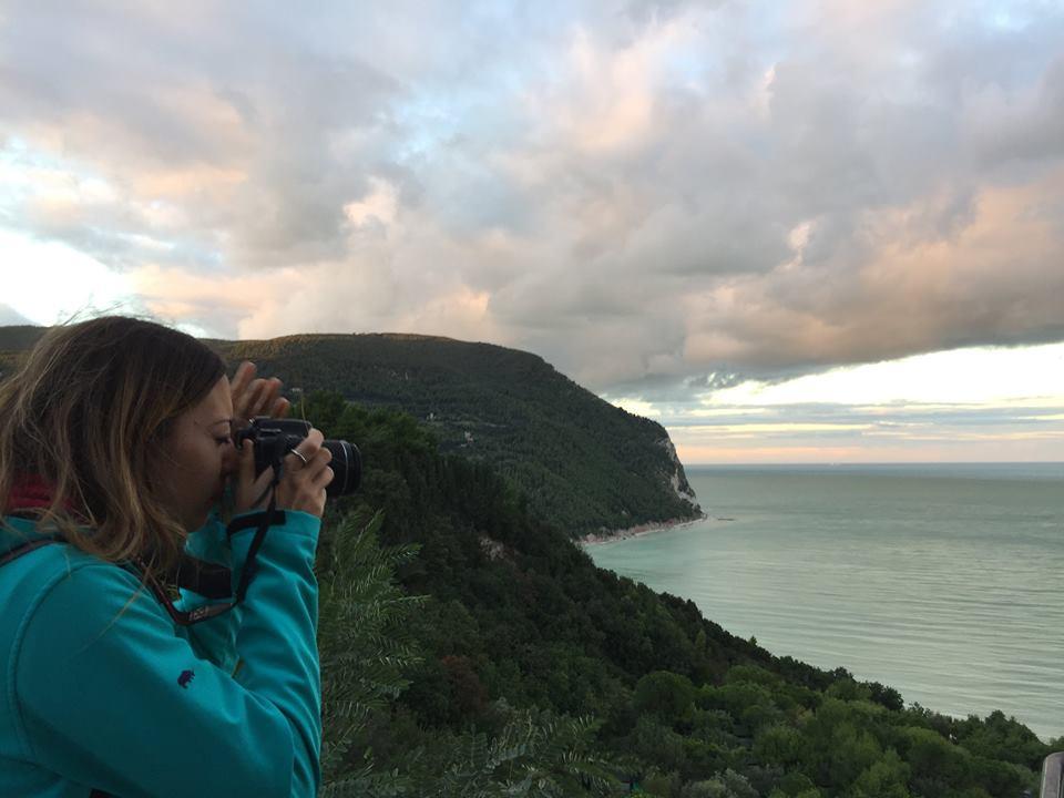 Il tramonto dal belvedere di Sirolo