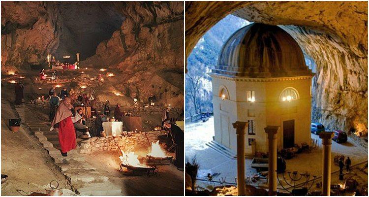 presepe vivente-tempietto valadier-genga-grotte