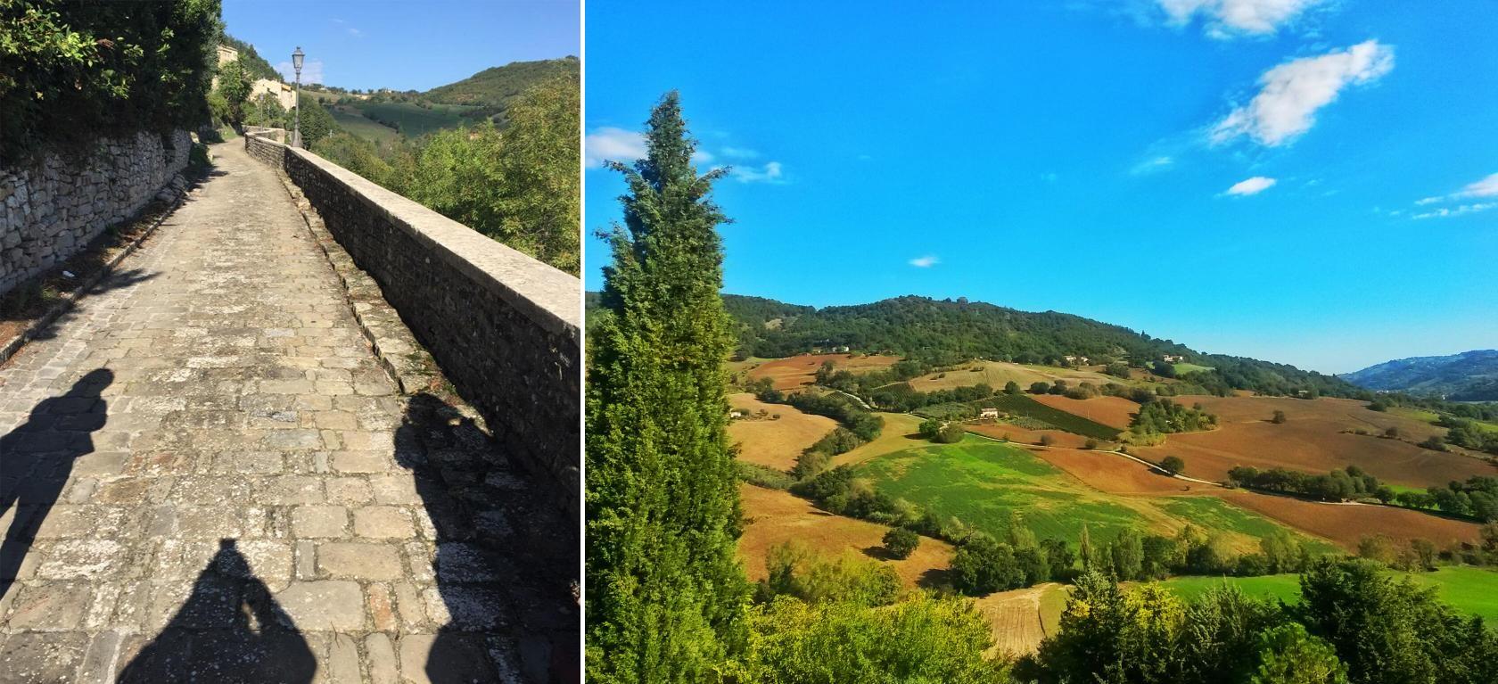 Serra San Qurico (Foto a sinistra di TheGretaEscape da Twitter)