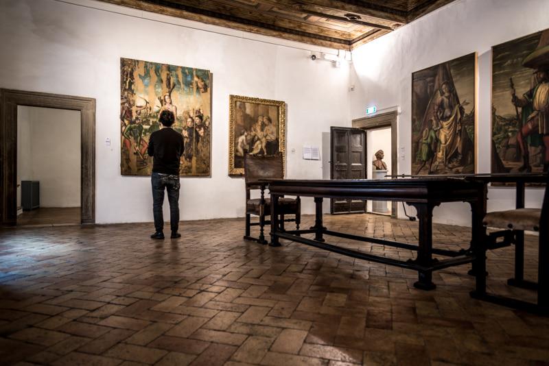 interno di Casa Raffaello ad Urbino