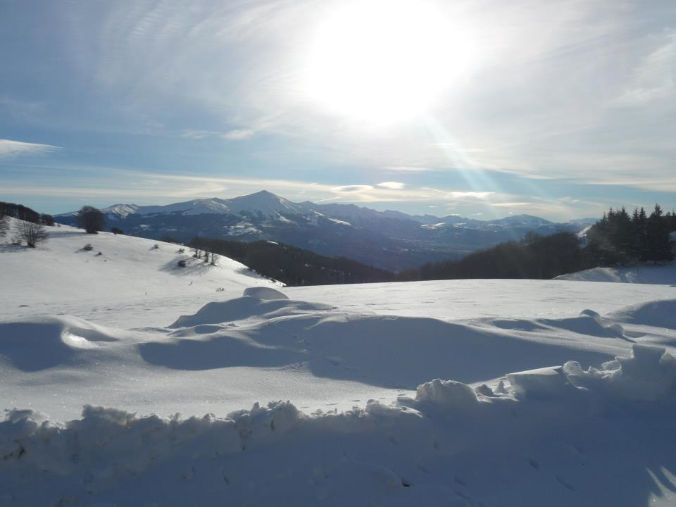 Panorama dei monti della Laga dal rifugio Colle le Cese © Eleonora Organtini