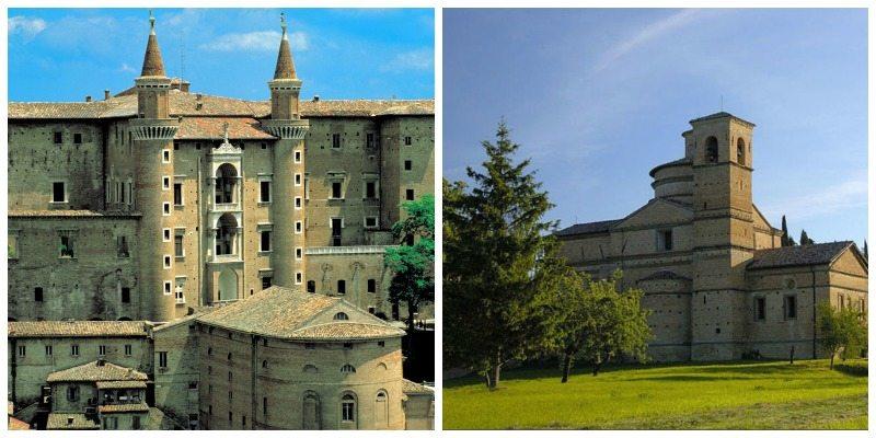 Il Palazzo Ducale di Urbino e Chiesa di san Bernardino