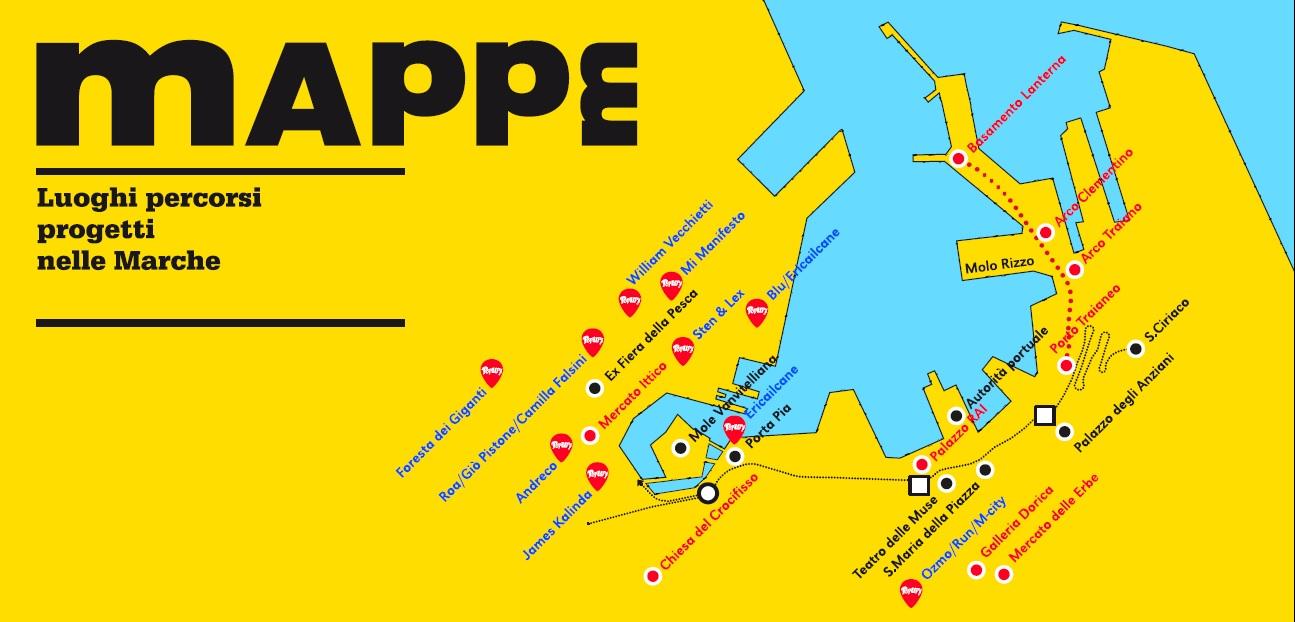 La zona del porto di Ancona © Mappelab