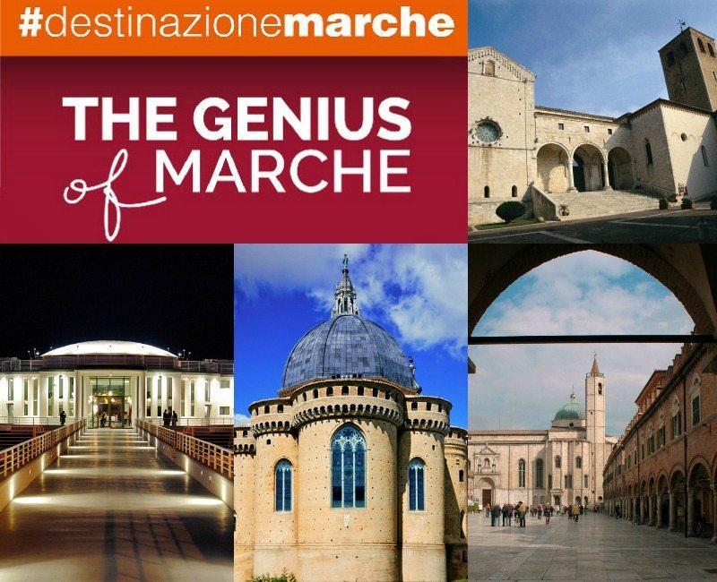 In senso orario: Osimo, Ascoli Piceno, Loreto. Senigallia