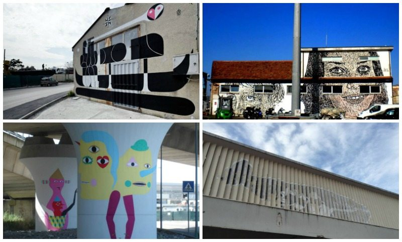 Alcune opere di streetart nella zona del porto di Ancona © Paolo Zitti, POPOUP! Festival, Mappelab