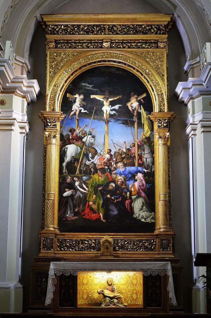 Lorenzo Lotto, Crocefissione, chiesa di S. Maria in Telusiano, Monte S. Giusto