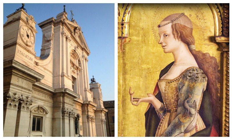 Basilica della Santa Casa di Loreto - Carlo Crivelli, S. Maria Maddalena (particolare), Trtittico di Montefiore, Chiesa di S. Lucia di Montefiore dell'Aso