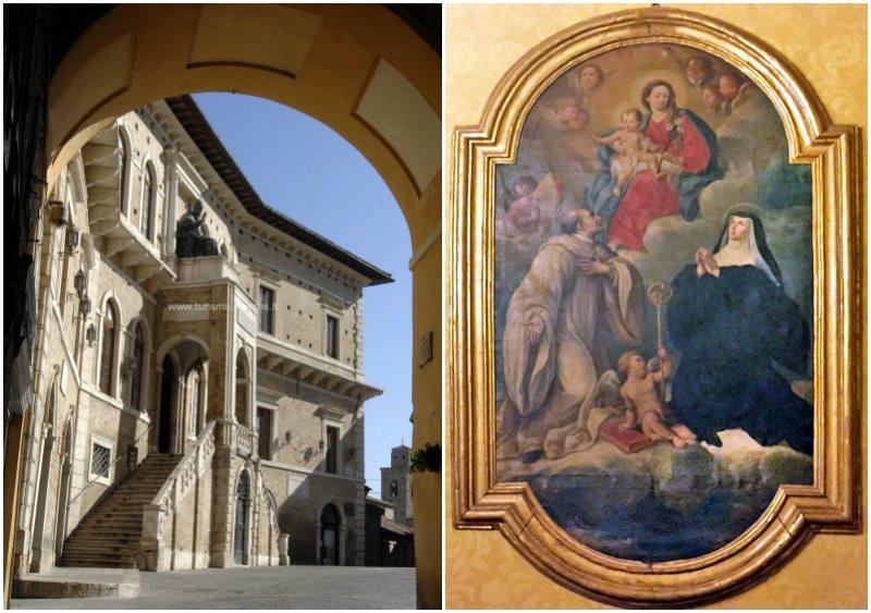 Palazzo dei Priori di Fermo / Luci Ricci, Madonna in gloria fra San Romualdo e Santa Scolastica