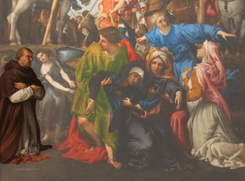 il committente del quadro: Niccolò Bonafede