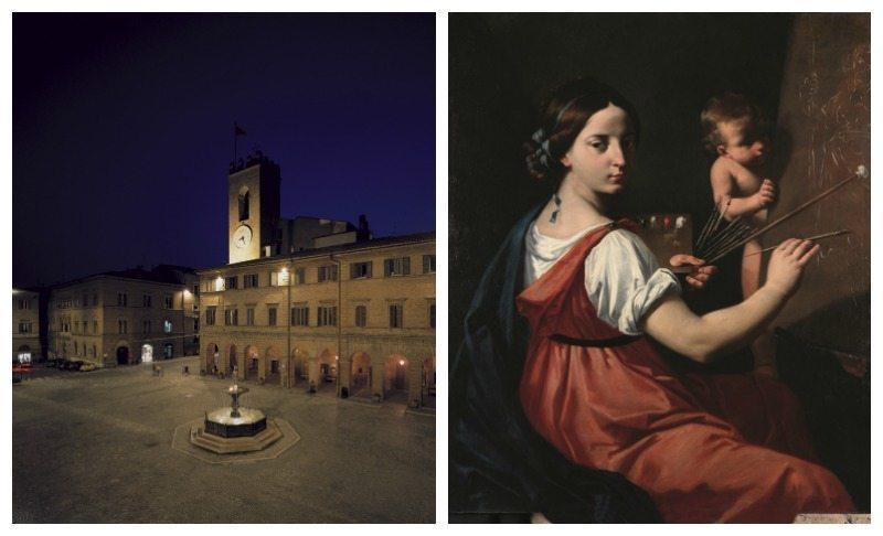 Piazza Boccolino, Osimo - Simone Cantarini detto il Pesarese, Allegoria della Pittura, collezione Cavallini-Sgarbi