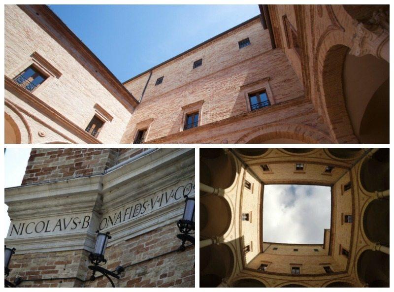 Palazzo Bonafede a Monte S. Giusto, è una delle maggiori architetture del Rinascimento nelle Marche