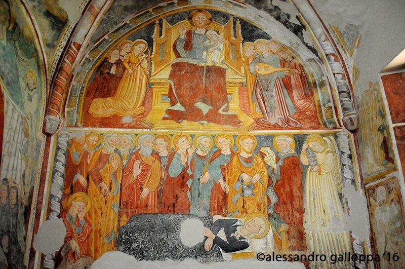 ffreschi della chiesa Santa maria a piè d'Agello