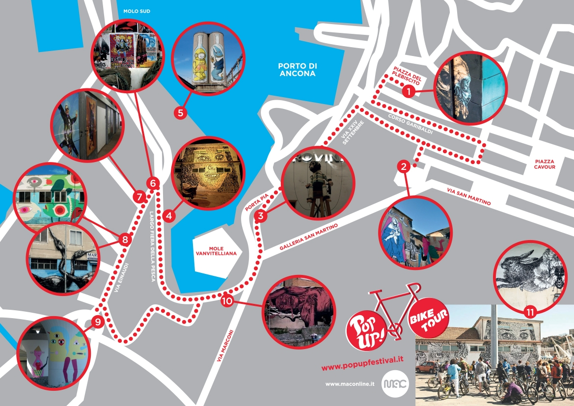 La Mappa del Pop Up! Bike Tour di Ancona