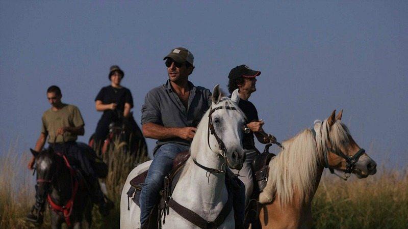 Foto di backstage dello spot #ruralmarche con Adriano Giannini