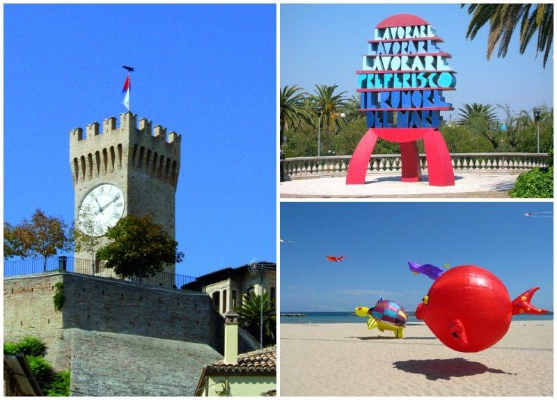 San Benedetto del Tronto  Torre dei Gualtieri, il lungomare con le sculture, la spiaggia Foto © Stefano Taffoni