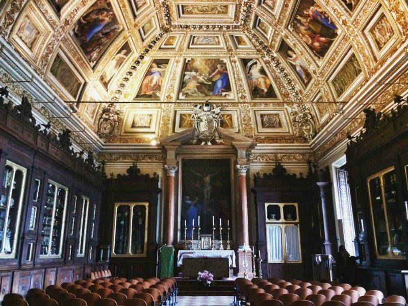 sala del pomarancio sala del tesoro loreto