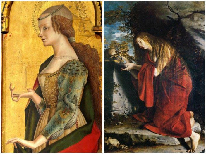 """""""La Maddalena"""" di Carlo Crivelli nel Trittico di Montefiore dell'Aso e """"La Maddalena penitente"""" di Orazio Gentileschi"""