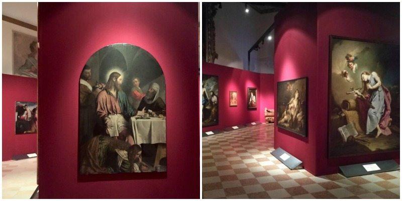 """Una delle sale espositive della mostra """"La Maddalena tra peccato e penitenza"""""""